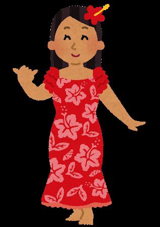 ハワイアンな女性
