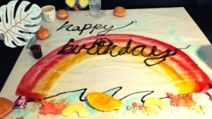 クラッキンキッチンで誕生日スイートアート