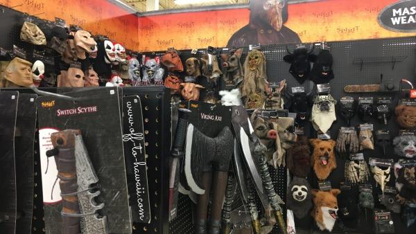 斧やマスク
